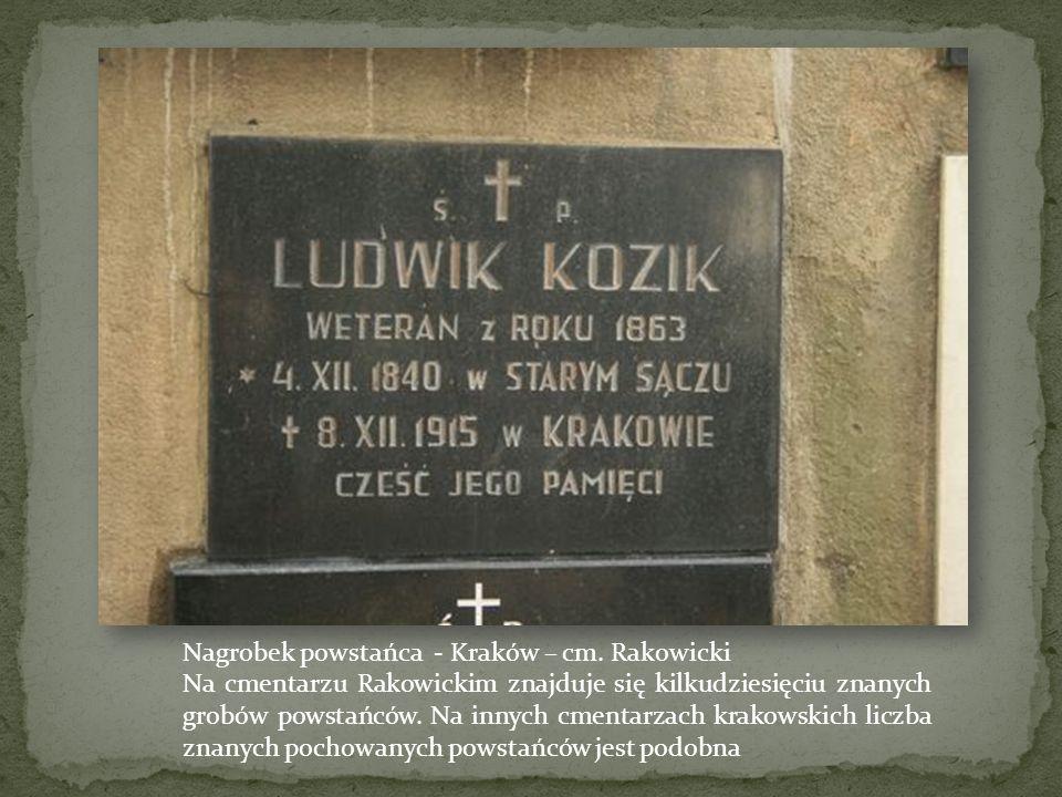 Karty ze zdjęciami powstańców. Liczne takie karty prezentowały przywódców, zesłańców, pomordowanych, powieszonych. Wydawane były po Powstaniu przez wi