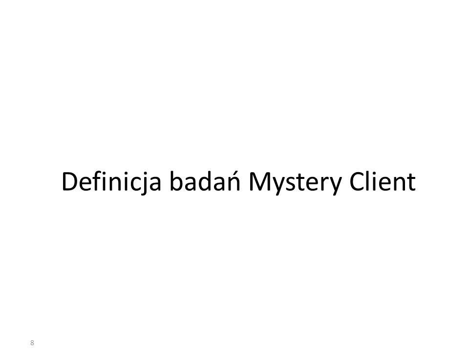 8 Definicja badań Mystery Client