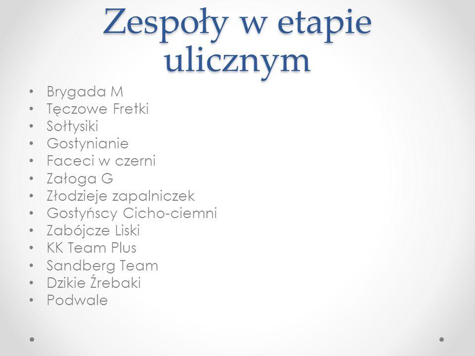 IV Gostyńska Gra Miejska etap uliczny 11 maja 2013
