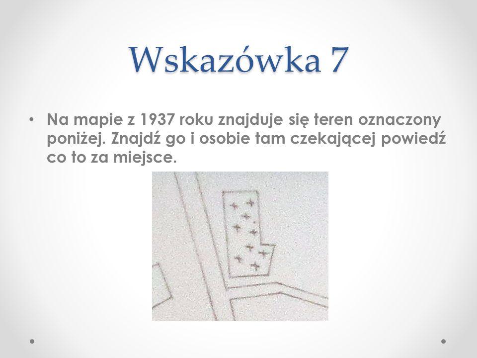 W taki sposób oznaczono na mapie cmentarz.