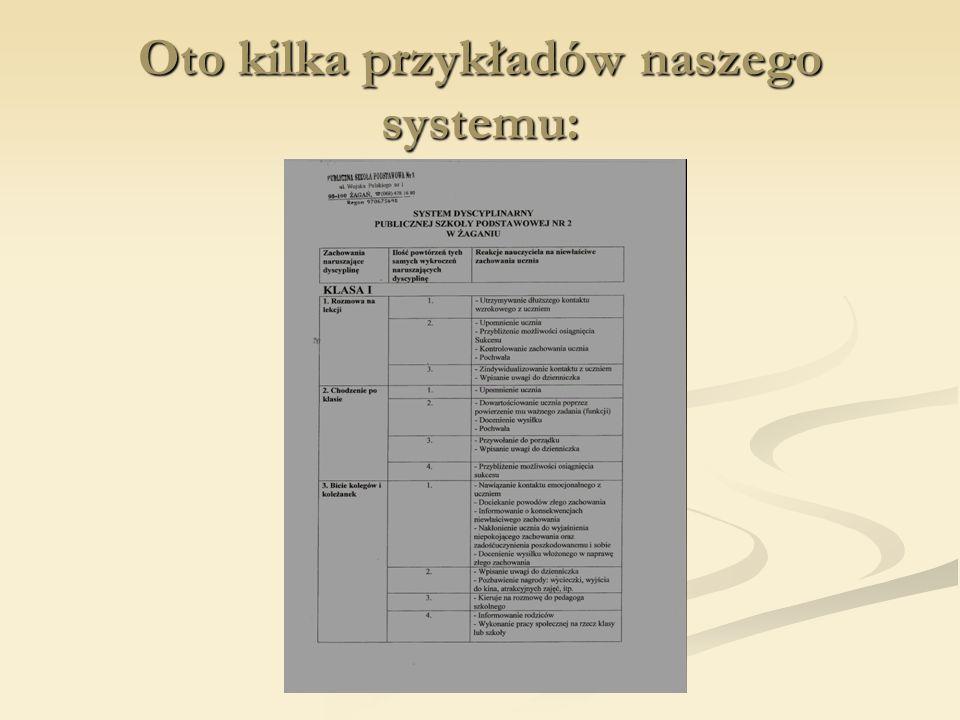 Oto kilka przykładów naszego systemu:
