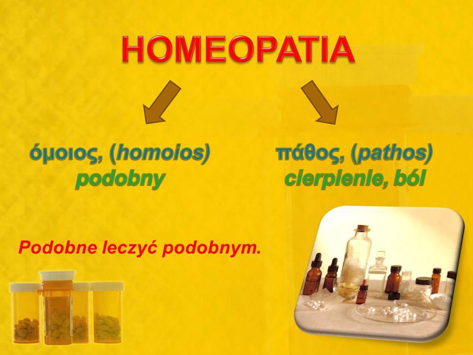 WNIOSEK Homeopatia, to rodzaj PLACEBO!!!