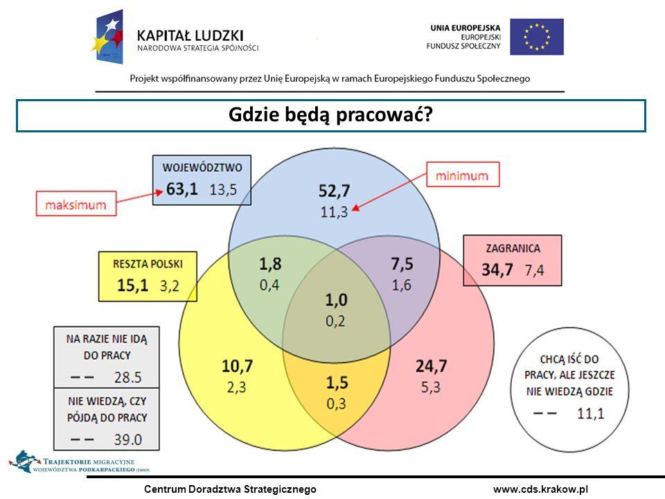 Centrum Doradztwa Strategicznego www.cds.krakow.pl 31,7% Gdzie będą pracować?