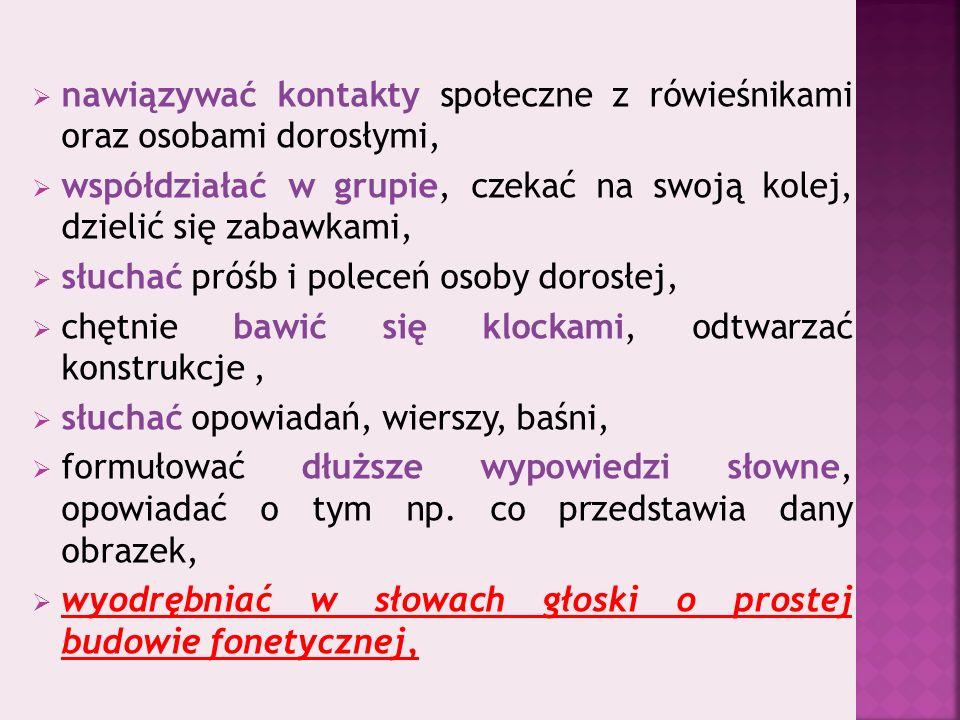 Oddział przedszkolnyKlasa pierwsza Lp.