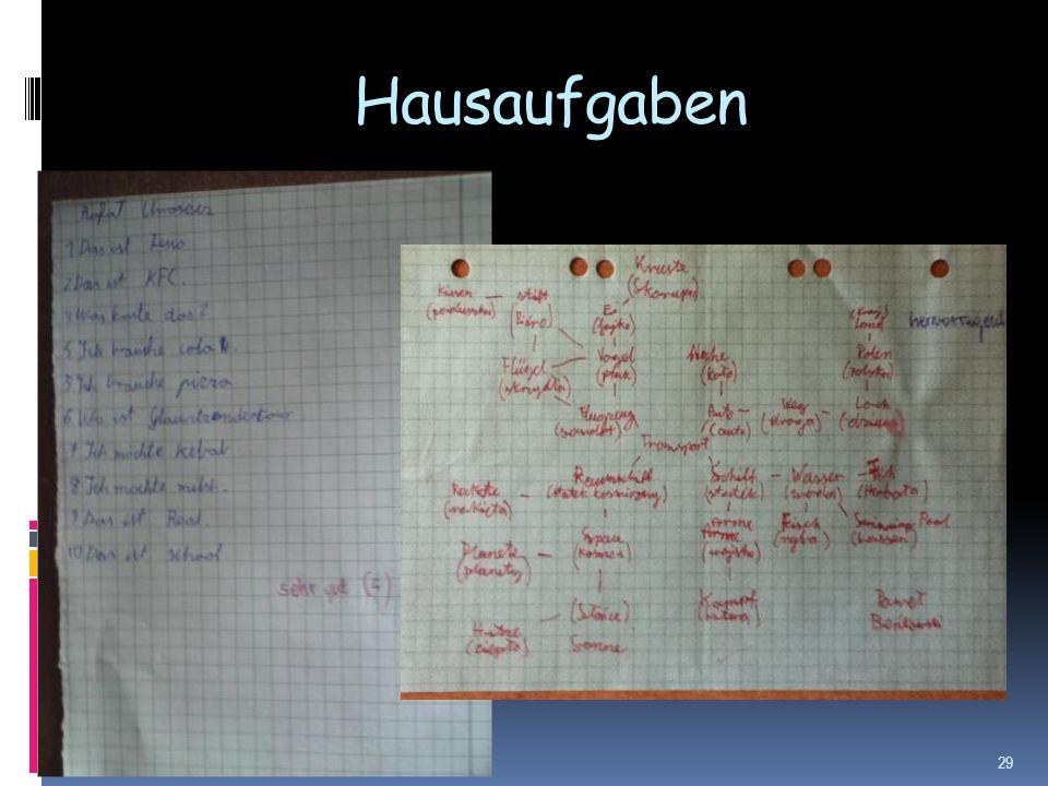 Hausaufgaben 29