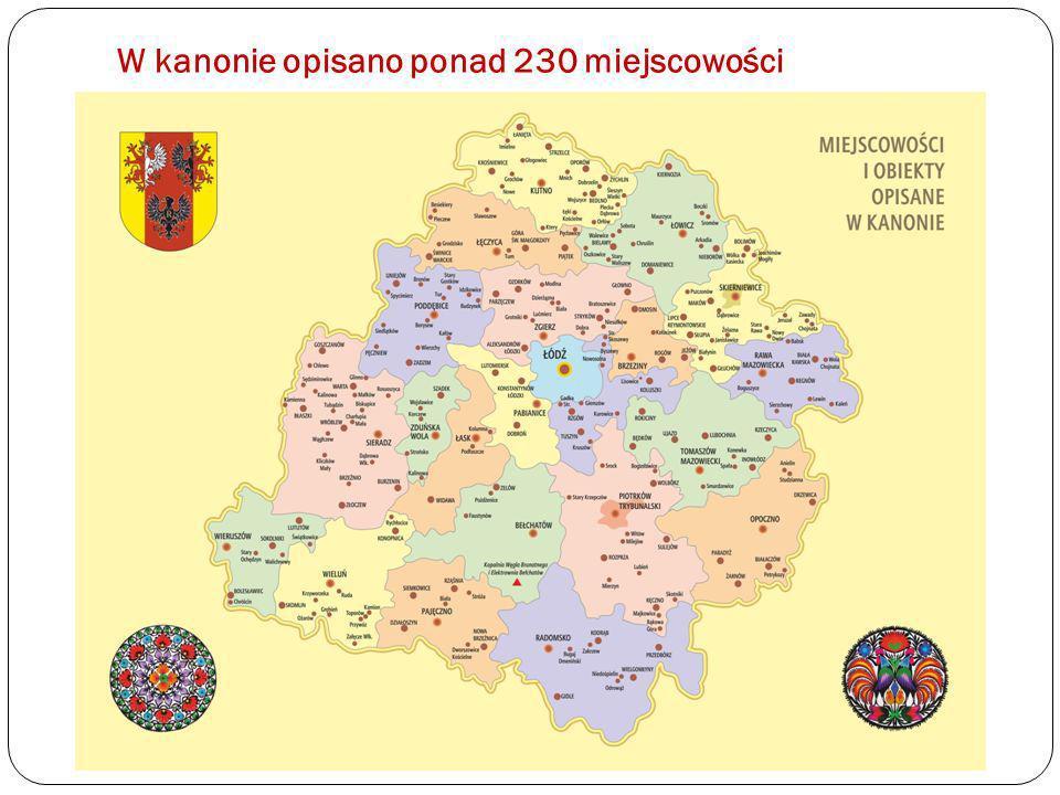 W kanonie opisano ponad 230 miejscowości