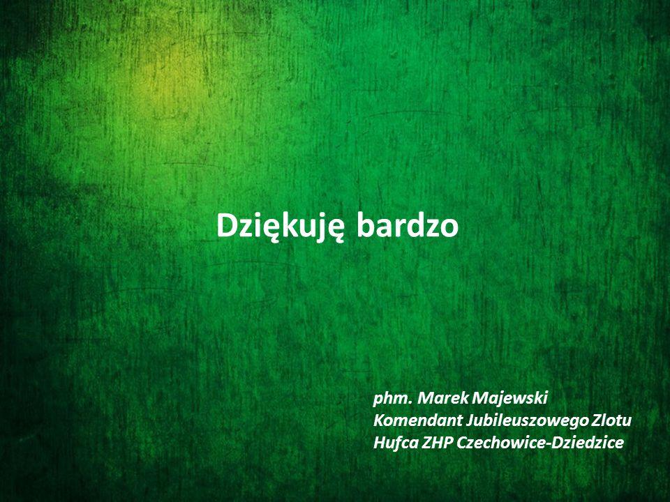 Dziękuję bardzo phm. Marek Majewski Komendant Jubileuszowego Zlotu Hufca ZHP Czechowice-Dziedzice