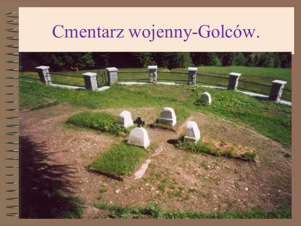 Cmentarz wojenny-Golców.
