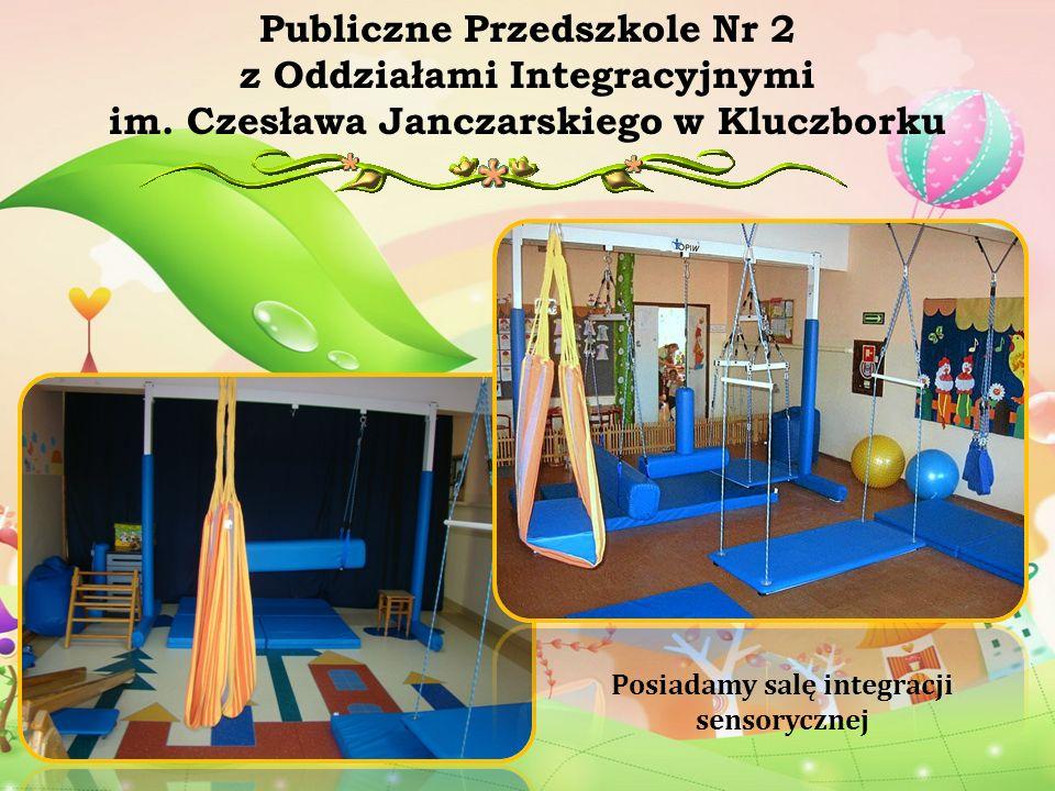Posiadamy salę integracji sensorycznej Publiczne Przedszkole Nr 2 z Oddziałami Integracyjnymi im. Czesława Janczarskiego w Kluczborku