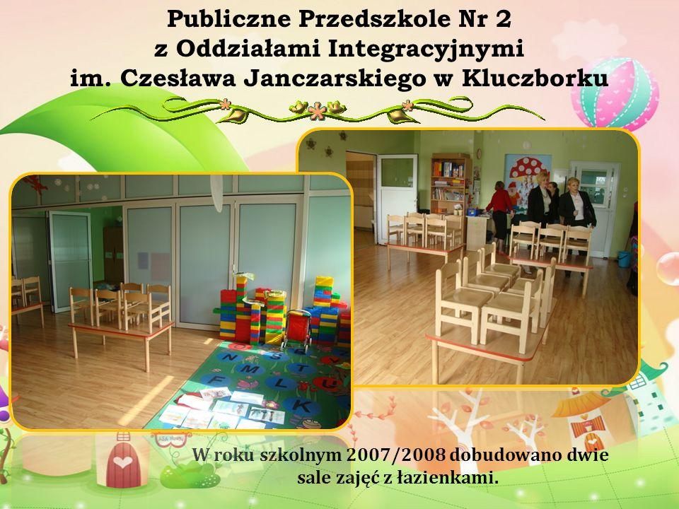 W roku szkolnym 2007/2008 dobudowano dwie sale zajęć z łazienkami. Publiczne Przedszkole Nr 2 z Oddziałami Integracyjnymi im. Czesława Janczarskiego w