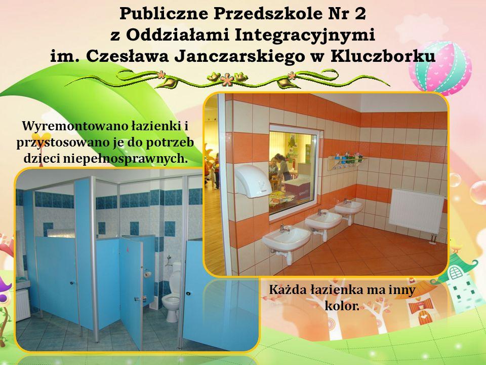 Wyremontowano łazienki i przystosowano je do potrzeb dzieci niepełnosprawnych. Publiczne Przedszkole Nr 2 z Oddziałami Integracyjnymi im. Czesława Jan