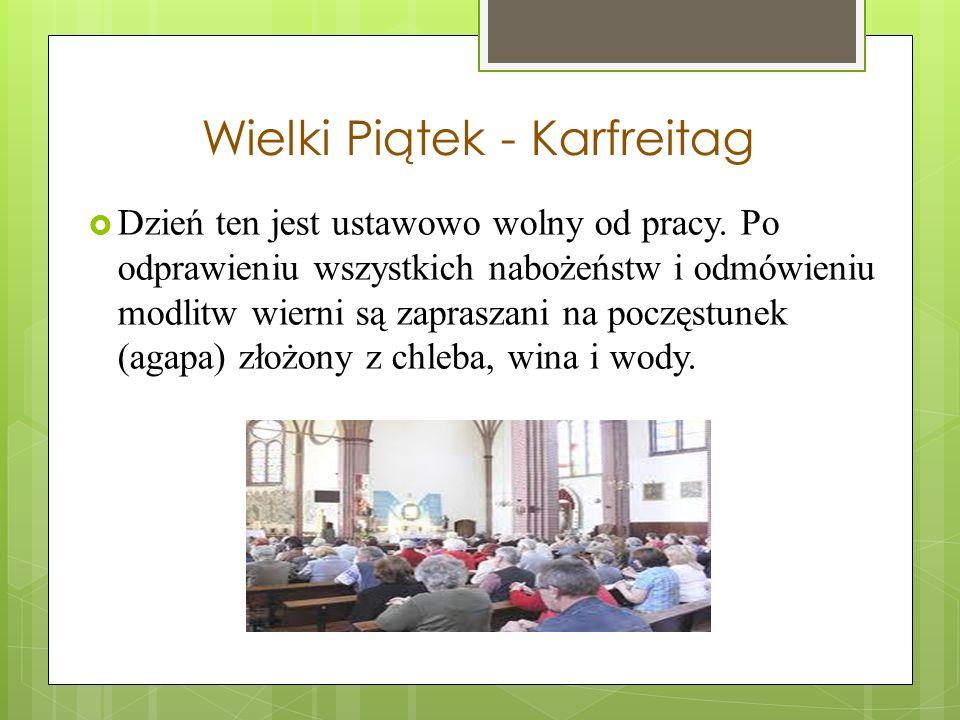 Zielony Czwartek - Gründonnerstag Jednym z elementów przygotowań jest przyozdabianie gałązek w wazonach kolorowymi wydmuszkami lub nawet strojenie krz