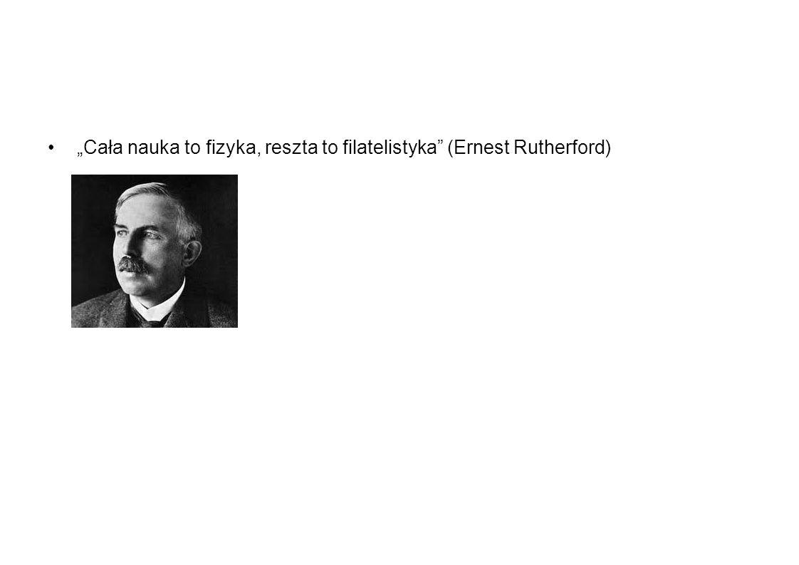 Cała nauka to fizyka, reszta to filatelistyka (Ernest Rutherford)