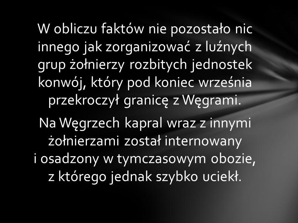 Z 6 na 7 września jednostka naszego bohatera została wycofana z Warszawy na podlubelskie lotniska w kierunku na Wołyń. 17 września żołnierze 123 eskad