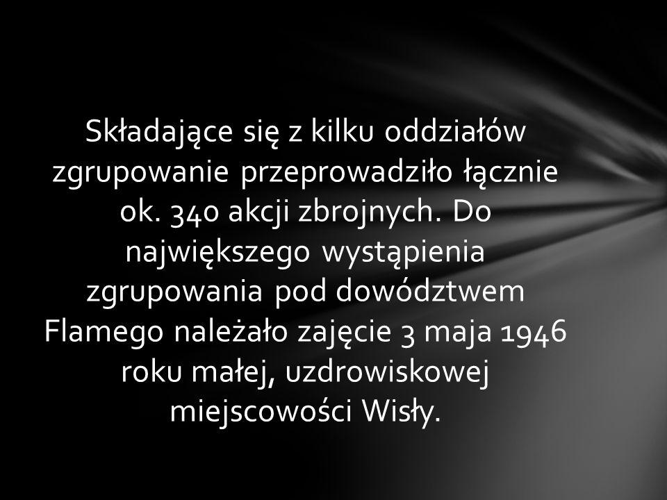 Od lewej kpt. Henryk Flame,,Bartek, Romuald Czarnecki,,Pikolo, Jan Przewoźnik,,Ryś
