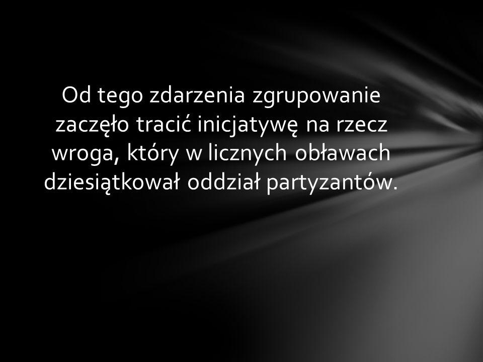 W 1946 roku, zamordowano skrytobójczo wielu żołnierzy zgrupowania,,Bartka (o czym pisaliśmy na początku prezentacji).