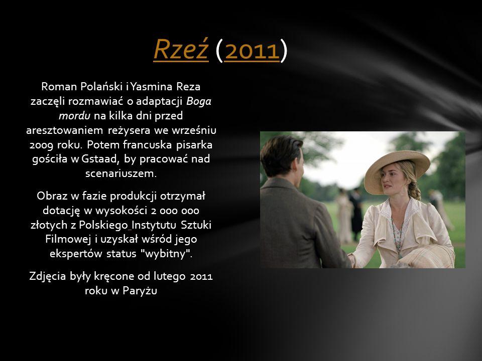 Roman Polański i Yasmina Reza zaczęli rozmawiać o adaptacji Boga mordu na kilka dni przed aresztowaniem reżysera we wrześniu 2009 roku. Potem francusk