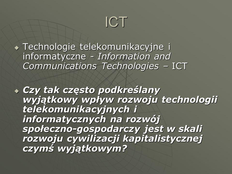 ICT Technologie telekomunikacyjne i informatyczne - Information and Communications Technologies – ICT Technologie telekomunikacyjne i informatyczne -