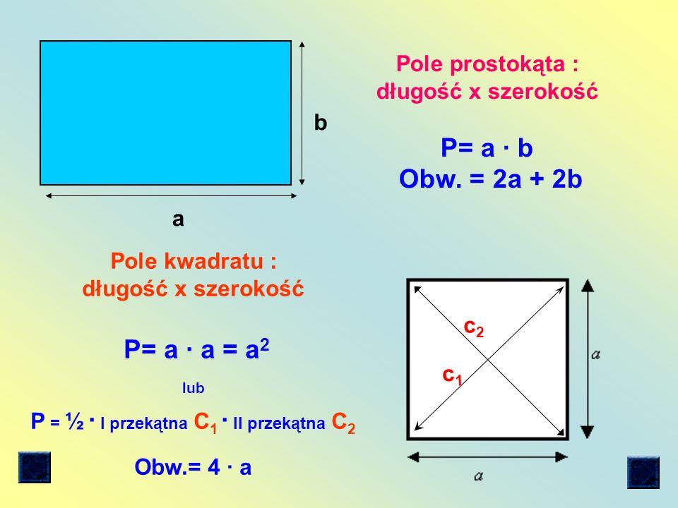 Jednostki pola: 1 cm = 10 mm 1dm = 10cm (1 cm) 2 = (10 mm) 2 (1dm) 2 =(10cm) 2 1 cm.