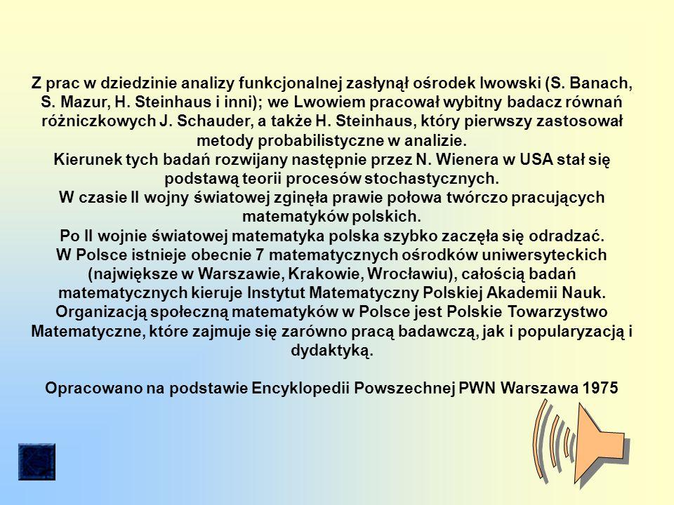 Z prac w dziedzinie analizy funkcjonalnej zasłynął ośrodek lwowski (S.