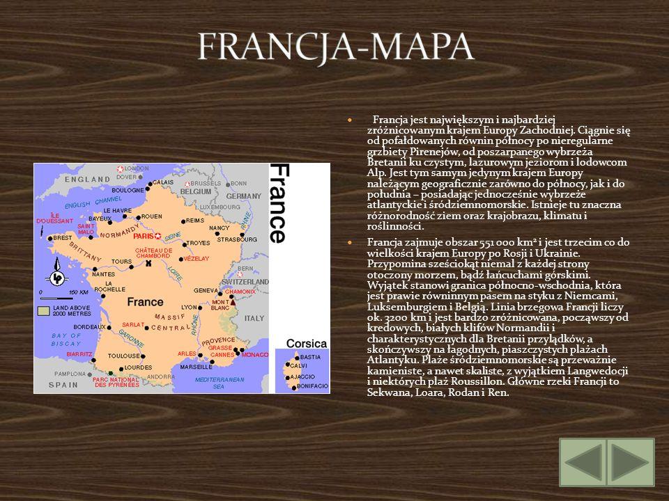 Francja jest największym i najbardziej zróżnicowanym krajem Europy Zachodniej. Ciągnie się od pofałdowanych równin północy po nieregularne grzbiety Pi