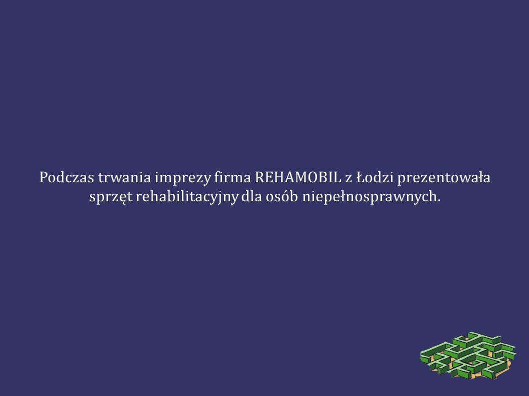 Podczas trwania imprezy firma REHAMOBIL z Łodzi prezentowała sprzęt rehabilitacyjny dla osób niepełnosprawnych.