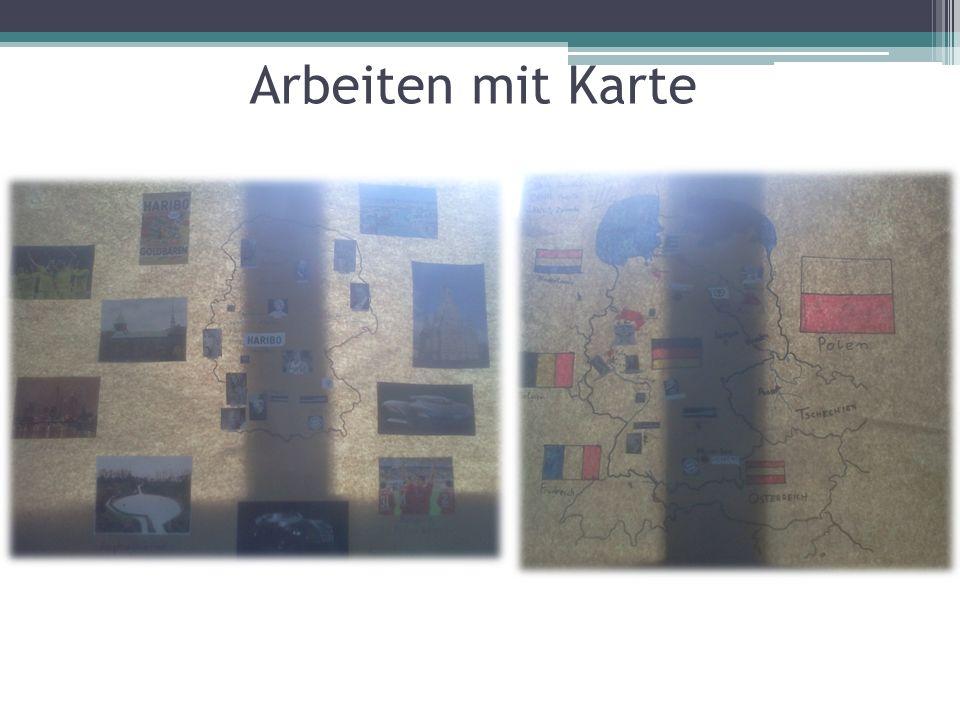 Arbeiten mit Karte