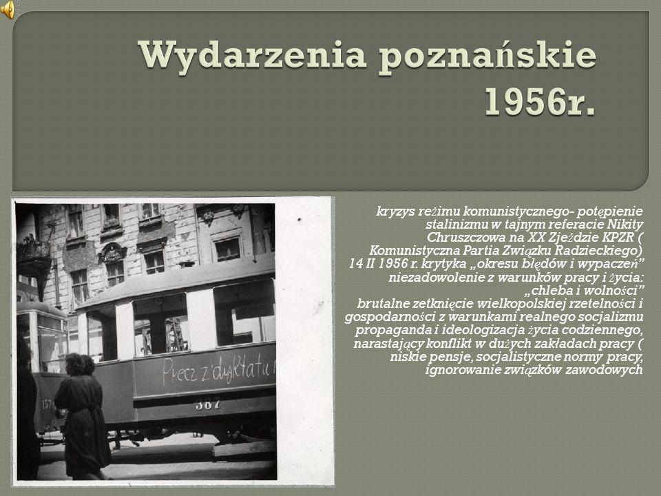 kryzys re ż imu komunistycznego- pot ę pienie stalinizmu w tajnym referacie Nikity Chruszczowa na XX Zje ź dzie KPZR ( Komunistyczna Partia Zwi ą zku