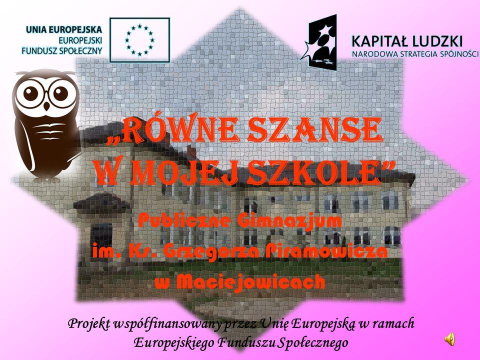 RÓWNE SZANSE W MOJEJ SZKOLE Publiczne Gimnazjum im.