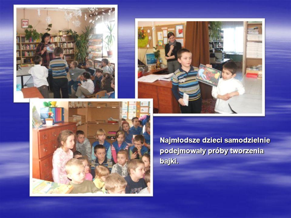 Najmłodsze dzieci samodzielnie podejmowały próby tworzenia bajki.