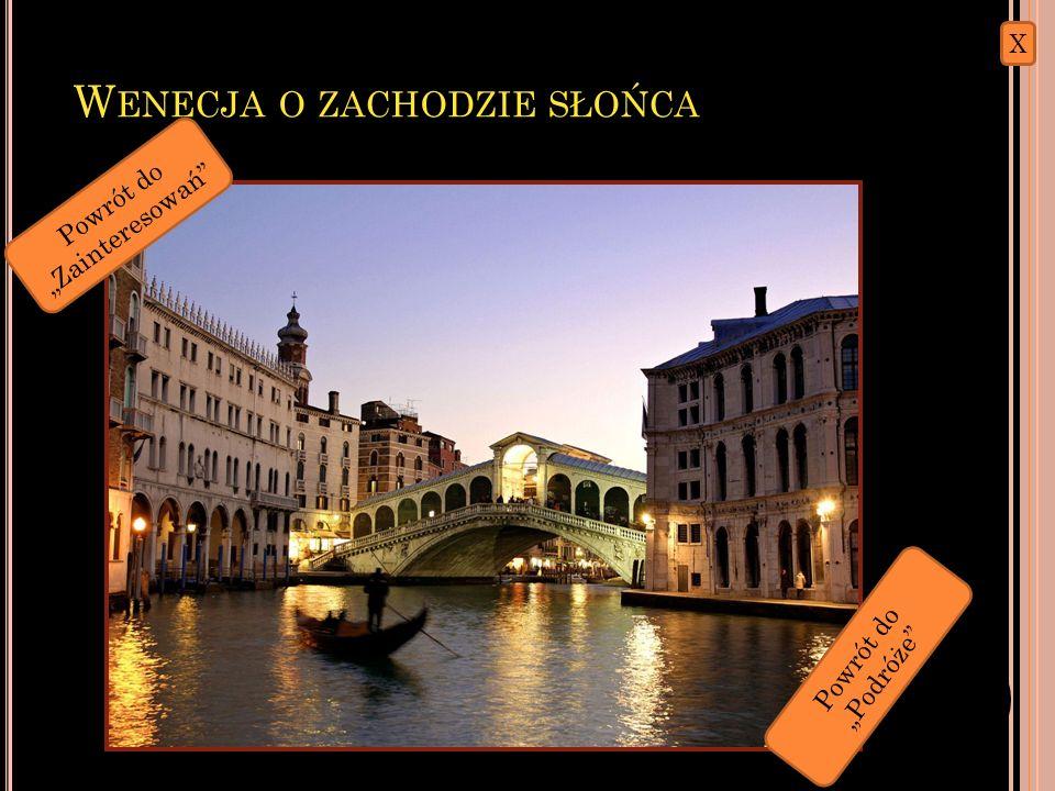W ENECJA Wenecja – miasto i gmina na północy Włoch nad Adriatykiem, stolica regionu Wenecja Euganejska. Ludność Wenecji w granicach administracyjnych