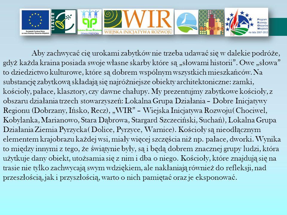 Obszar dzia ł ania Stowarzyszenia Lokalnej Grupy Dzia ł ania – Dobre Inicjatywy Regionu, z siedzib ą w Dobrzanach, skupia teren trzech gmin: Dobrzany, I ń sko i Recz.