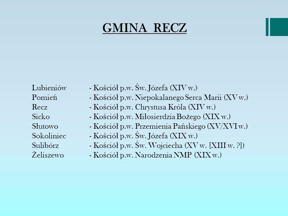 GMINA RECZ TRASA SZLAKU MIEJSCE OZNAKOWANIA D Ł UGO ŚĆ TRASY -52 KM