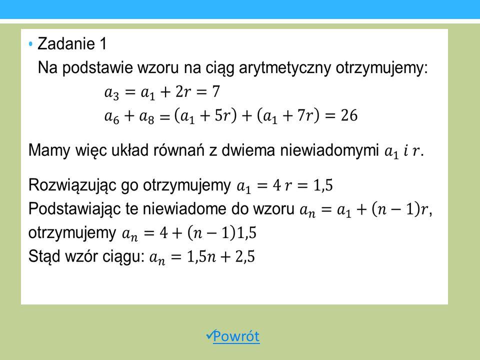 Przykładowe zadanie Rozwinięcie dziesiętne nieskracalnego ułamka zwykłego jest ułamkiem dziesiętnym okresowym, który można zapisać w postaci 0,(xyz).