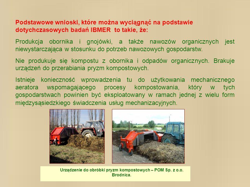 Podstawowe wnioski, które można wyciągnąć na podstawie dotychczasowych badań IBMER to takie, że: Produkcja obornika i gnojówki, a także nawozów organi