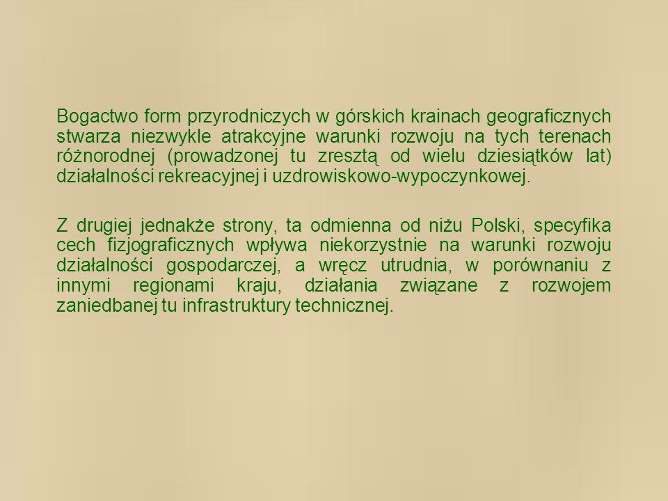 Większość terytorium powiatu to tereny o niekorzystnych warunkach rolniczego gospodarowania (ONW).