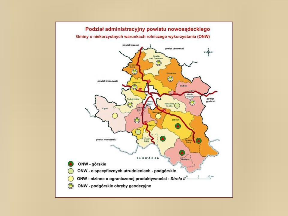 4.Gospodarstwa rolnicze w regionie sądeckim, a w szczególności gospodarstwa ekologiczne, mają na tym polu nowe szanse, aby w większym zakresie spełniać zadania ogólno-społeczne związane z ochroną środowiska i kształtowania krajobrazu, poprzez produkcyjną pielęgnację użytków zielonych oraz rozwój plantacji i upraw leśnych.