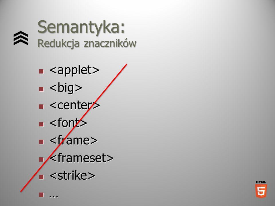 Semantyka: Redukcja znaczników …