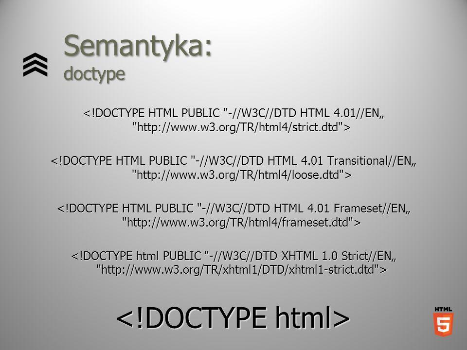 Semantyka: doctype