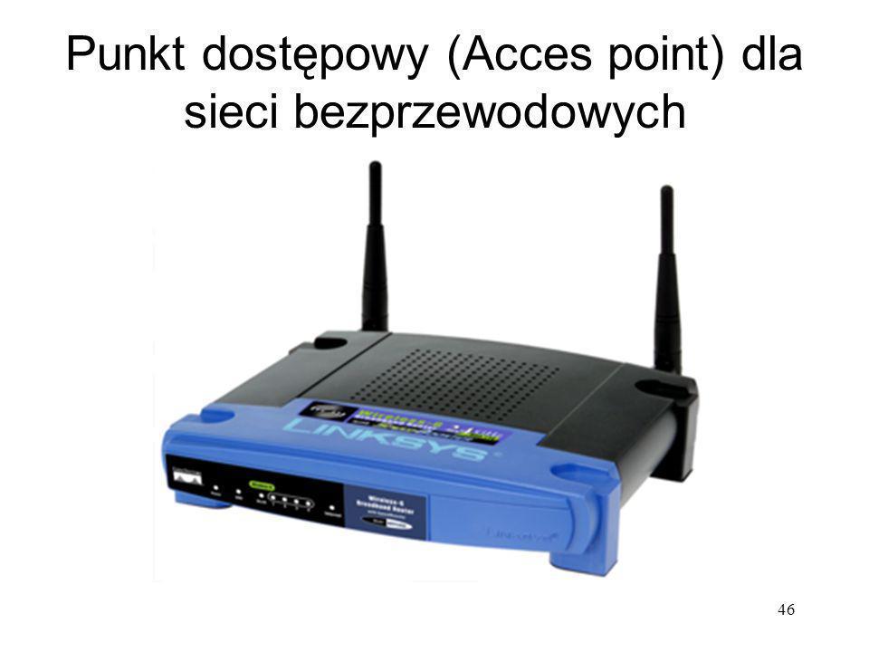 46 Punkt dostępowy (Acces point) dla sieci bezprzewodowych
