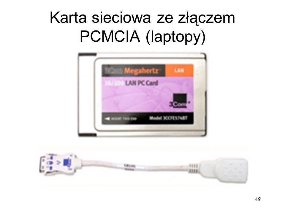 49 Karta sieciowa ze złączem PCMCIA (laptopy)