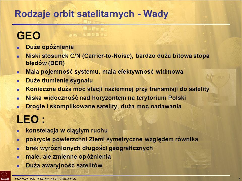 PRZYSZŁOŚĆ TECHNIK SATELITARNYCH 6 Satelitarne Centrum Usług Głównie Telewizja...