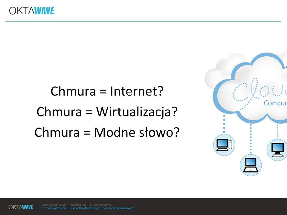 Chmura = Internet? Chmura = Wirtualizacja? Chmura = Modne słowo?