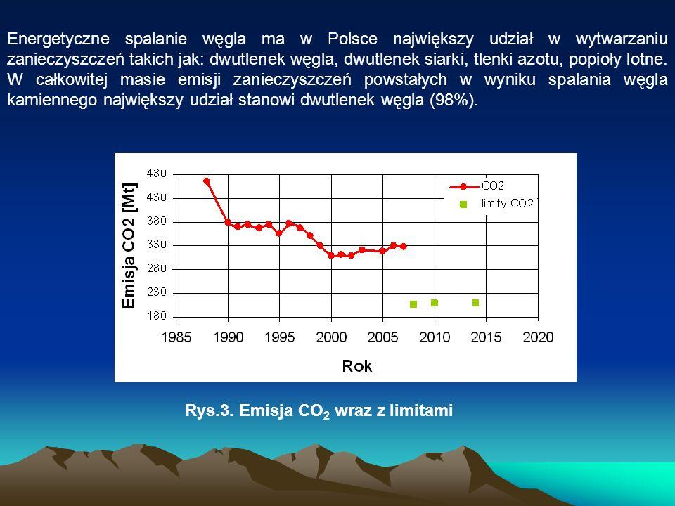 Energetyczne spalanie węgla ma w Polsce największy udział w wytwarzaniu zanieczyszczeń takich jak: dwutlenek węgla, dwutlenek siarki, tlenki azotu, po