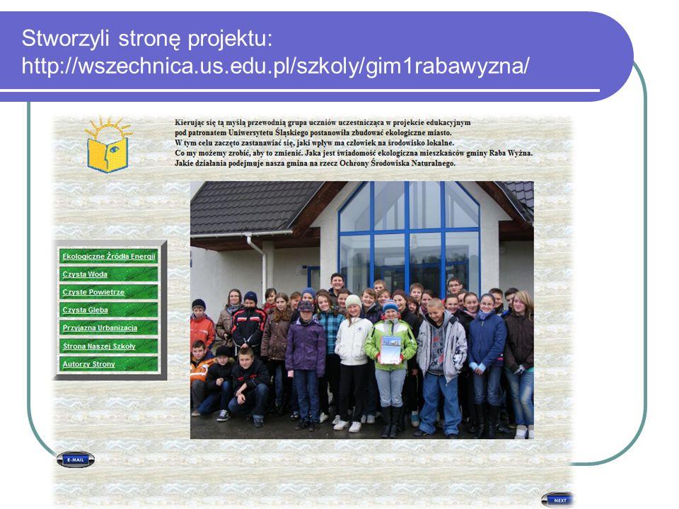 Stworzyli stronę projektu: http://wszechnica.us.edu.pl/szkoly/gim1rabawyzna/