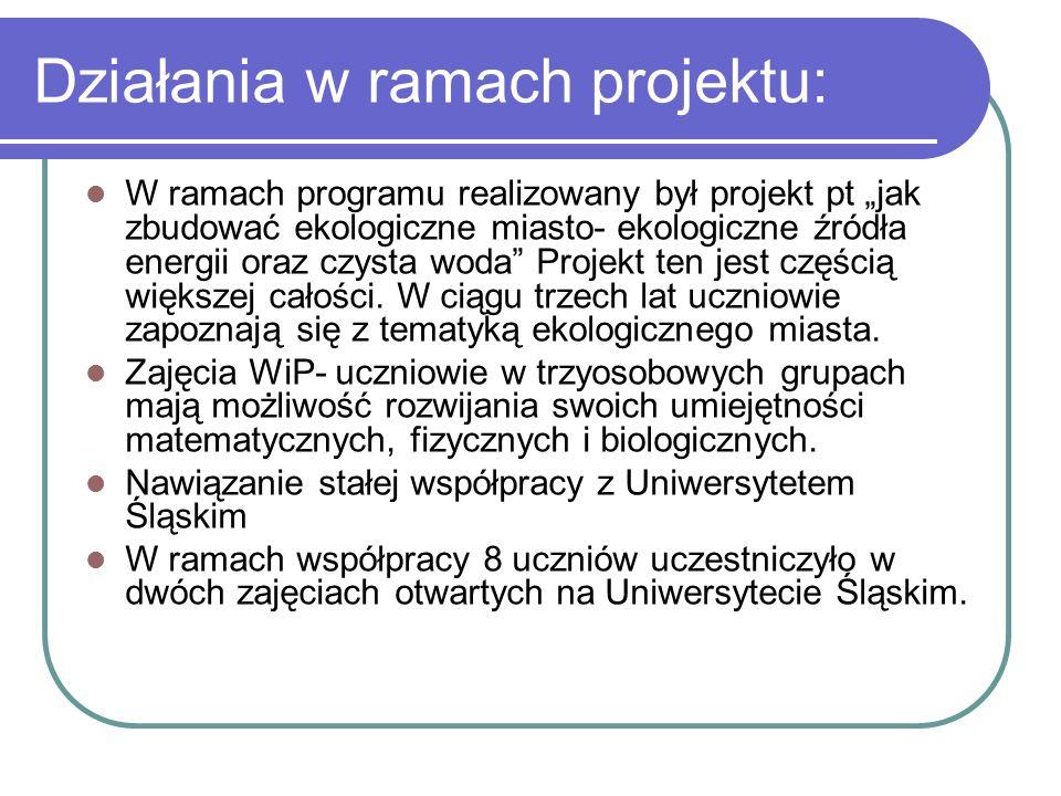 24 kwietnia 2010 Zostaliśmy wyróżnieni jako jeden z najciekawszych projektów realizowanych w ramach programu.