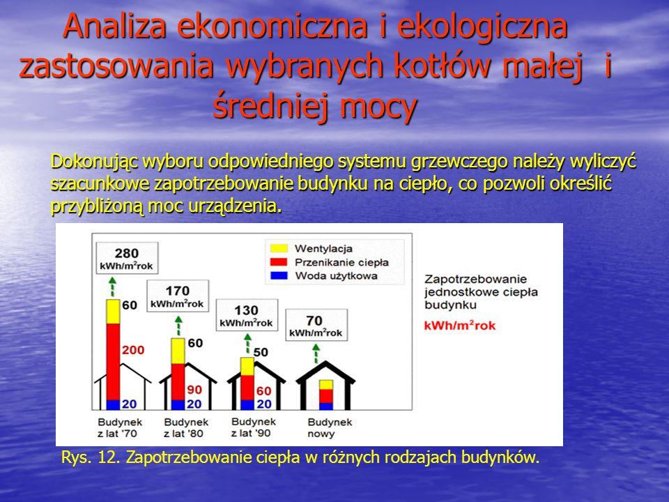 Analiza ekonomiczna i ekologiczna zastosowania wybranych kotłów małej i średniej mocy Dokonując wyboru odpowiedniego systemu grzewczego należy wyliczy