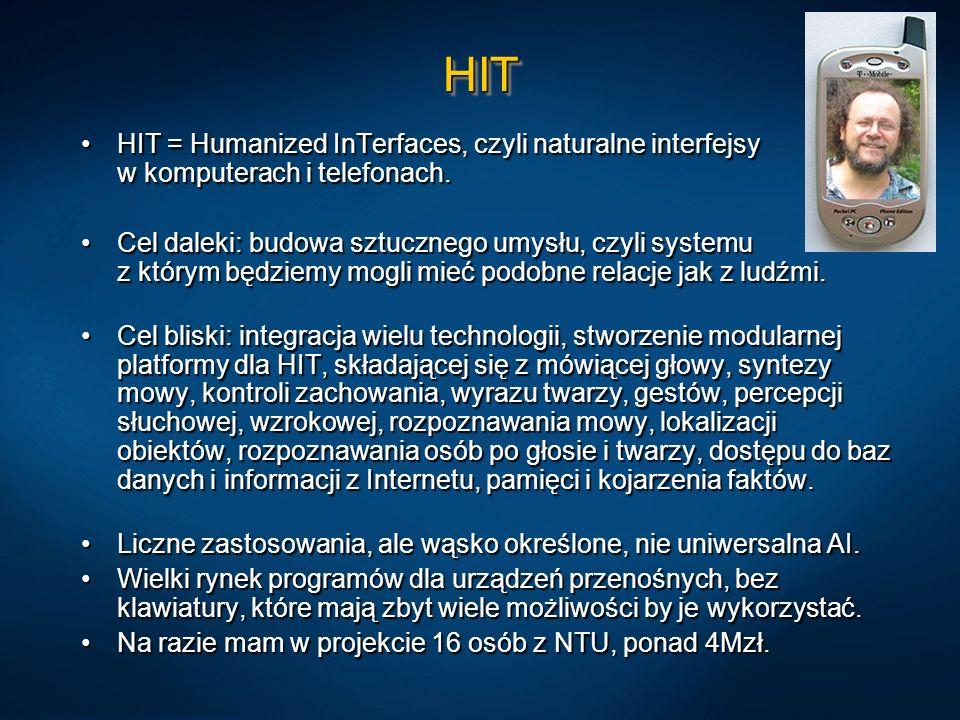 HITHIT HIT = Humanized InTerfaces, czyli naturalne interfejsy w komputerach i telefonach.HIT = Humanized InTerfaces, czyli naturalne interfejsy w komp