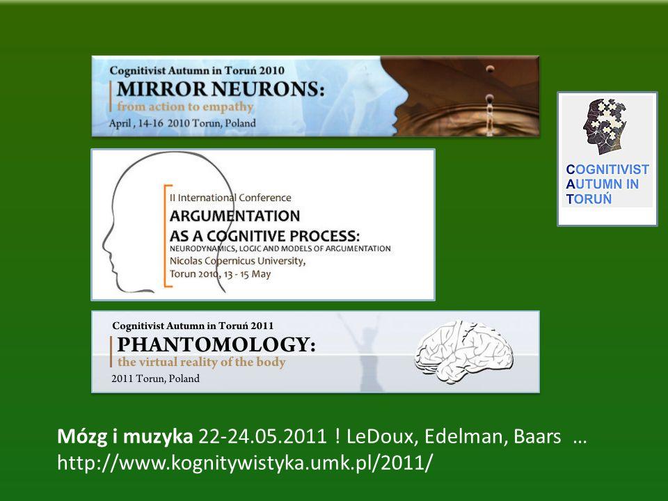 Mózg i muzyka 22-24.05.2011 ! LeDoux, Edelman, Baars … http://www.kognitywistyka.umk.pl/2011/