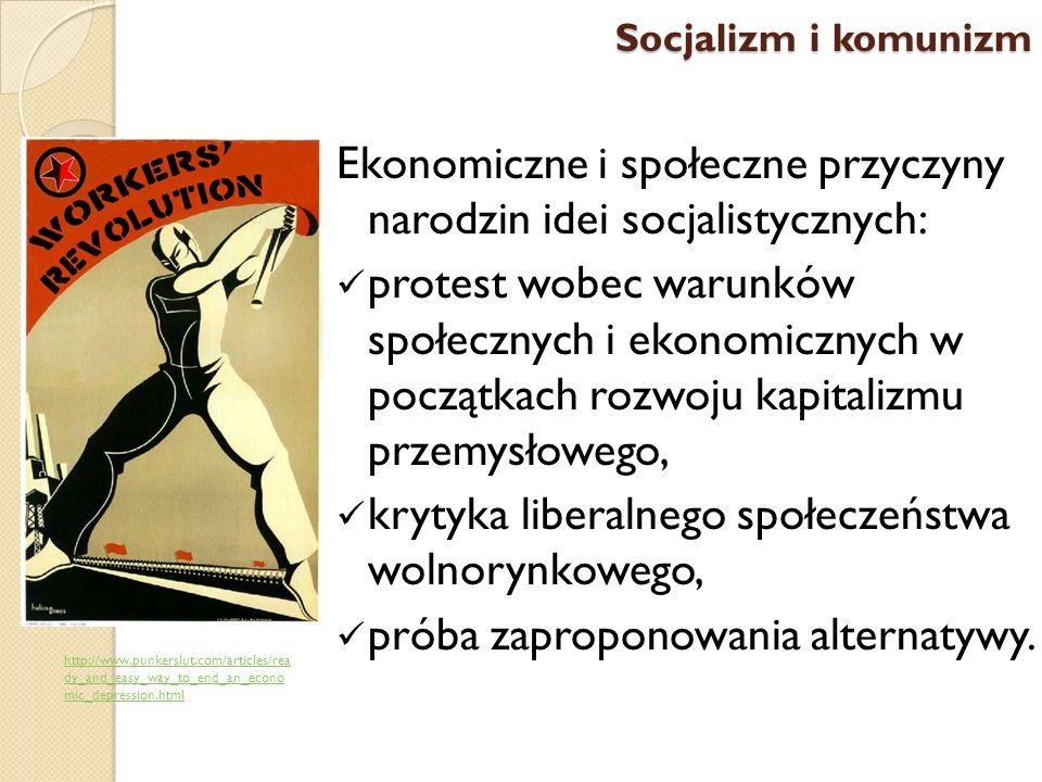 Ekonomiczne i społeczne przyczyny narodzin idei socjalistycznych: protest wobec warunków społecznych i ekonomicznych w początkach rozwoju kapitalizmu